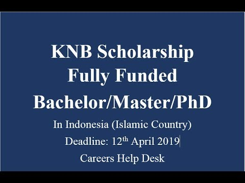 KNB Scholarship Fully Funded