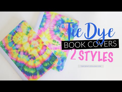 Diy Tie Dye Notebook Covers 2 Styles Youtube