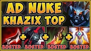 STOP PLAYING KHAZIX WRONG! ALL OUT DMG KHAZIX TOP IS 100% OP! KHAZIX TOP GAMEPLAY! League of Legends