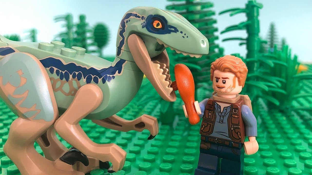 Lego Jurassic World Stop Motion Lego Jurassic World Velociraptor Rescue Lego By Billy Bricks Youtube