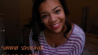 Summer School Hair, Makeup & Outfit! Thumbnail