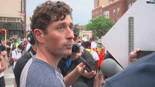 Mayor Frey Gives Statement At Protest For Defunding MPD