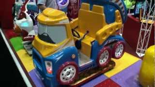 Max Super Truck - Coin Operated Kiddie Dump Truck Ride - BMIGaming.com - Falgas Amusement Rides