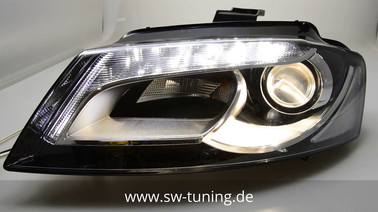 sw drl scheinwerfer f r audi a3 typ 8p 08 12 facelift led. Black Bedroom Furniture Sets. Home Design Ideas