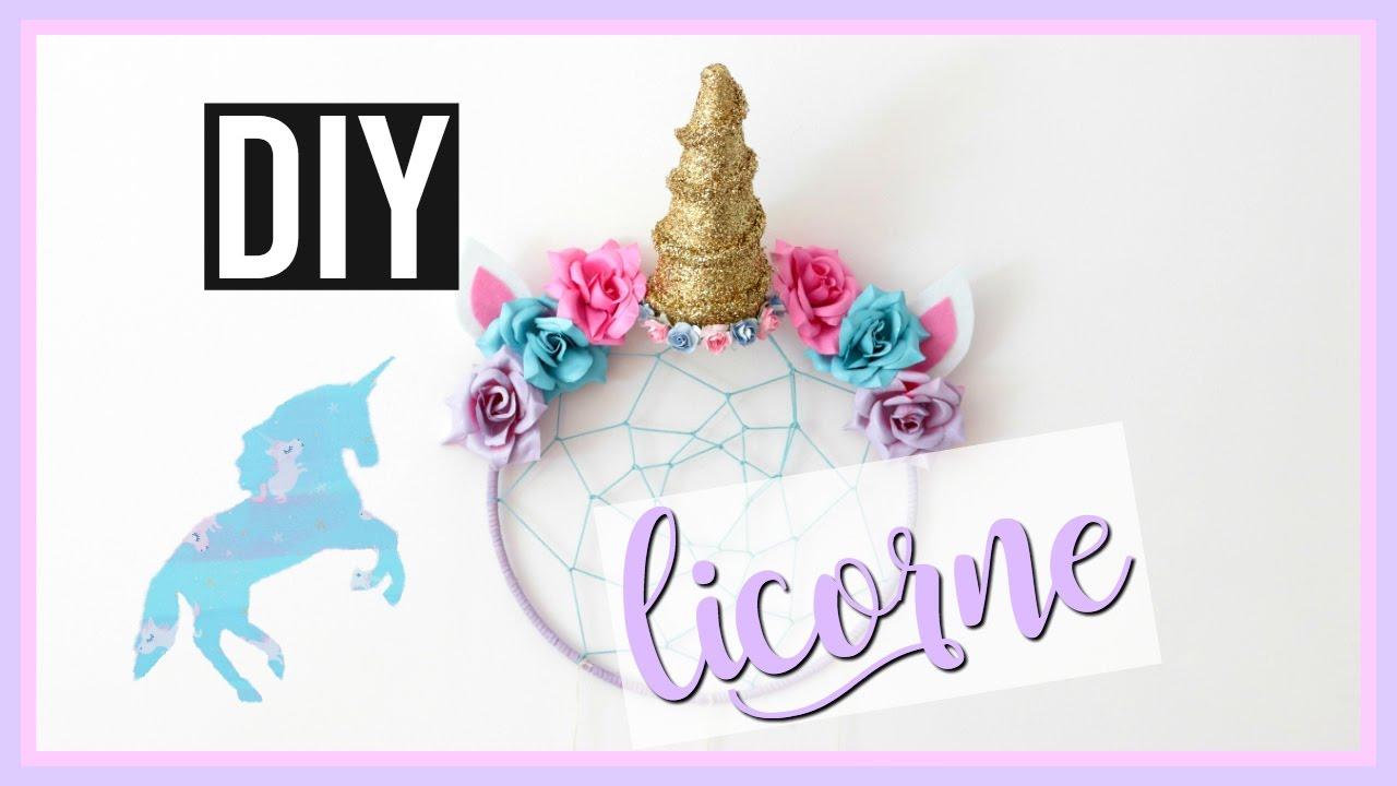 diy licorne deco chambre kawaii facile unicorn room decor fran ais youtube. Black Bedroom Furniture Sets. Home Design Ideas