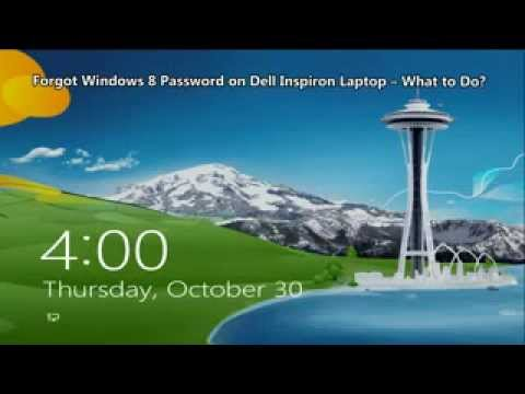 forgot password to computer dell