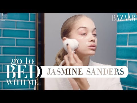 Golden Barbie Jasmine Sanders Nighttime Skincare Routine  Go To Bed With Me  Harpers BAZAAR
