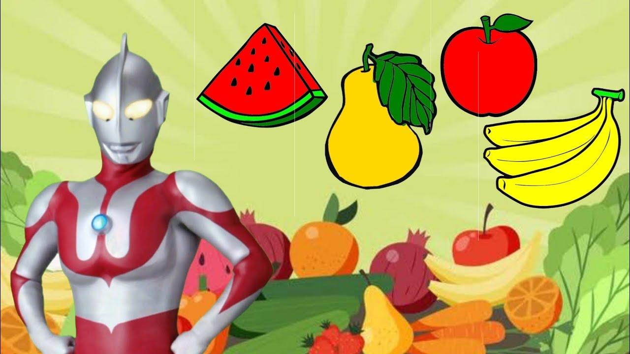 Mewarnai Buah-buahan Bersama Ultraman