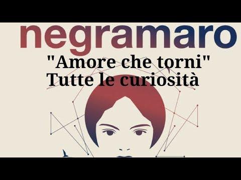 NEGRAMARO- AMORE CHE TORNI-TUTTE LE CURIOSITA'
