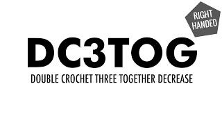 the double crochet three together decrease dc3tog crochet decrease right handed