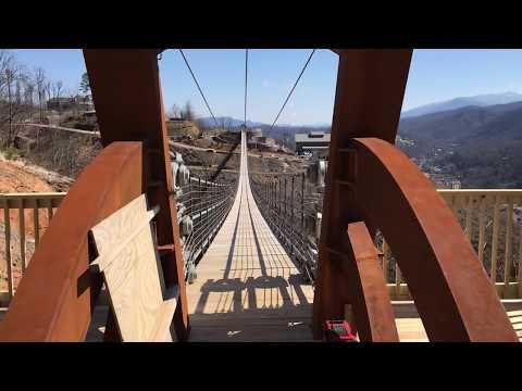 Walk between the Smokies on North America's longest pedestrian suspension bridge