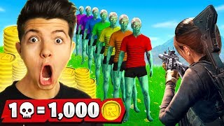 1 Elimination = 1,000 Robux Challenge! (PUBG Mobile)