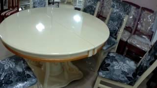 Круглый белый стол!
