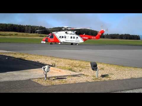 118 Irish Coast Guard Heilcopter at Sligo Airport Strandhill.