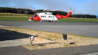 118 Irish Coast Guard Heilcopter at Sligo Airport Strandhill.
