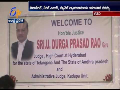 HC judge Durga Prasad Attends to Training program to Legal Aid panel lawyers in Kadapa