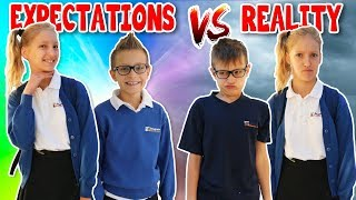 School Morning Routine EXPECTATIONS vs REALITY thumbnail