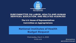 National Institutes of Health Budget Request for FY 2021 (EventID=110616)