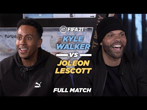 Kyle Walker vs Joleon Lescott | FULL MATCH | FIFA21