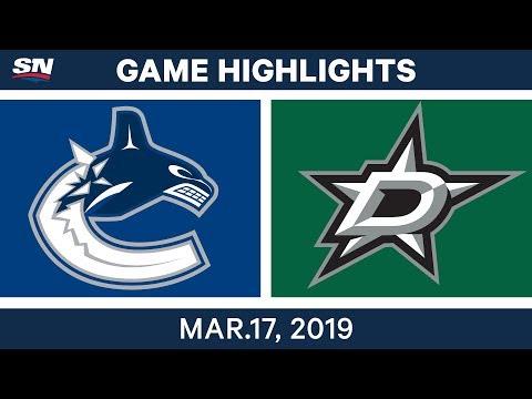 NHL Highlights | Canucks vs Stars – Mar 17, 2019