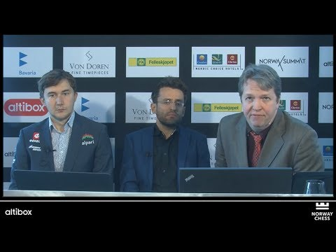 ANALYSIS WITH GMs LEVON ARONIAN AND SERGEY KARJAKIN - NORWAY CHESS 2017 ROUND 7