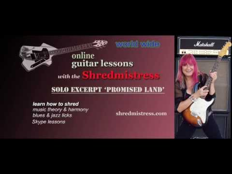 Female Guitarist Shredmistress Rynata: Excerpt Solo from Promised Land