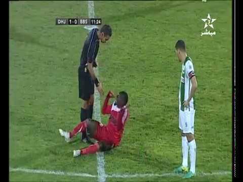 الشوط الأول difaa hassani el jadidi vs benfica bissau   10  - 0