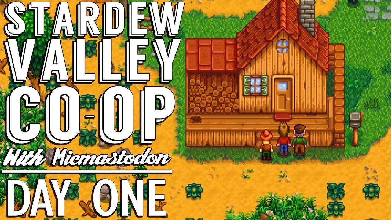DAY ONE! Stardew Valley Coop Gameplay :: Ep  1 :: SDV Makeshift Multiplayer  with Micmastodon :: UTC
