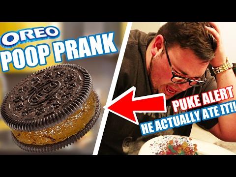 OREO POOP PRANK! (HE ACTUALLY ATE IT) MUST WATCH!!