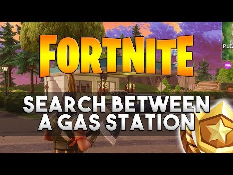 Search Between A Gas Station, Soccer Pitch, And Stunt Mountain - Fortnite Week 4 Challenge