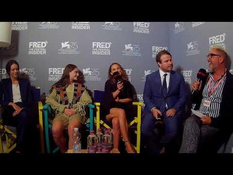 Brady Corbet, Natalie Portman, Raffey Cassidy and Stacy Martin  VOX LUX  75 Venice Film Festival