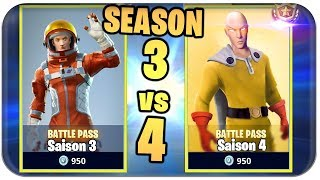 📆SAISON 3 🆚 SEASON 4 DIFFERENCES, BACKGROUND | Fortnite Season 4 Skins German German