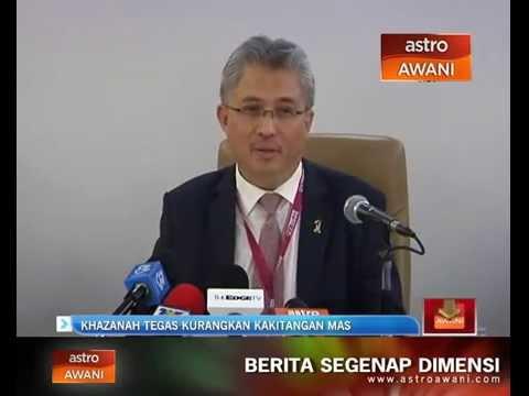 Khazanah tegas untuk mengurangkan kakitangan MAS