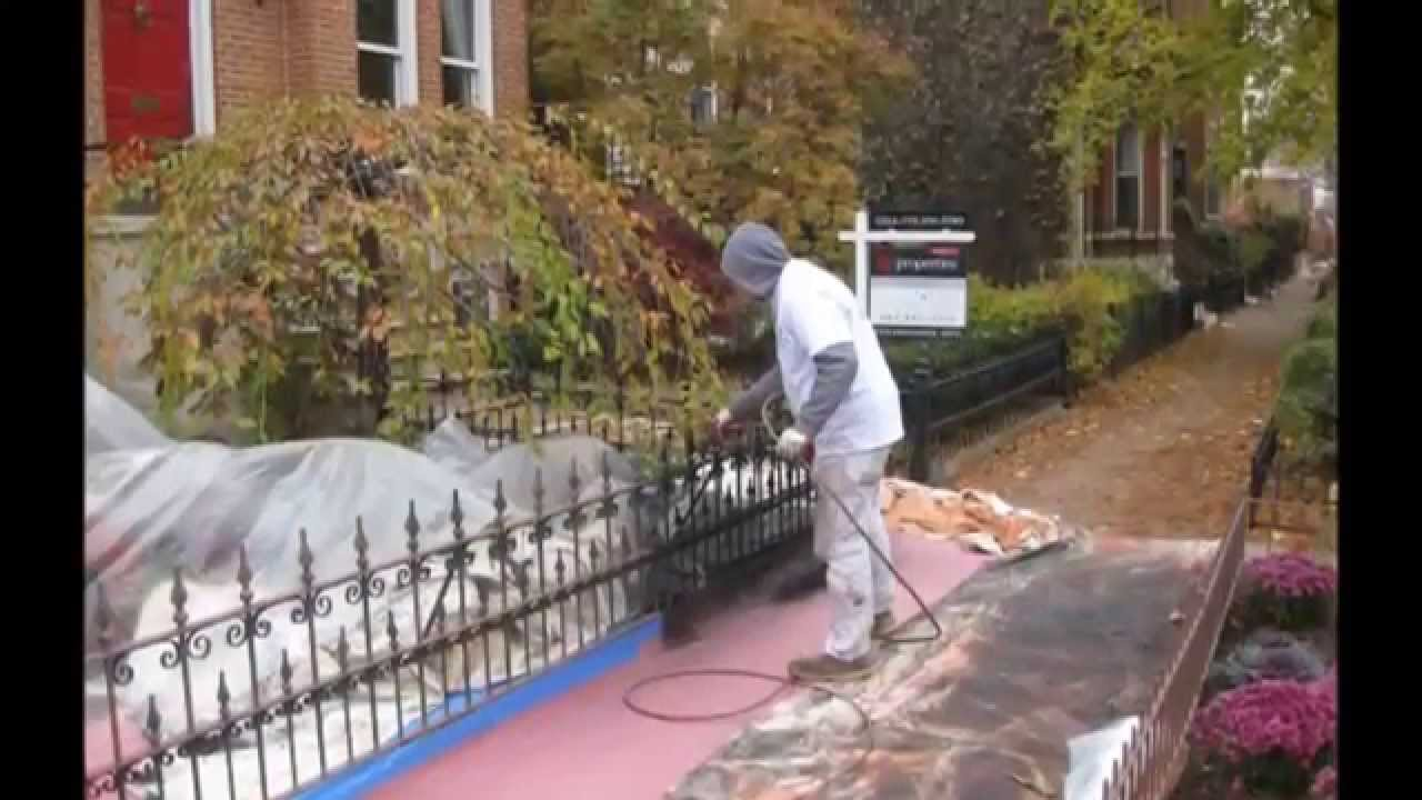Chicago Painter Wrought Iron Fences And Porches Painting