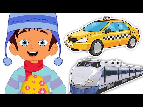 Surprise Eggs Transport   Learn Taxi Bus Tram With Max   CDS Kids Tv