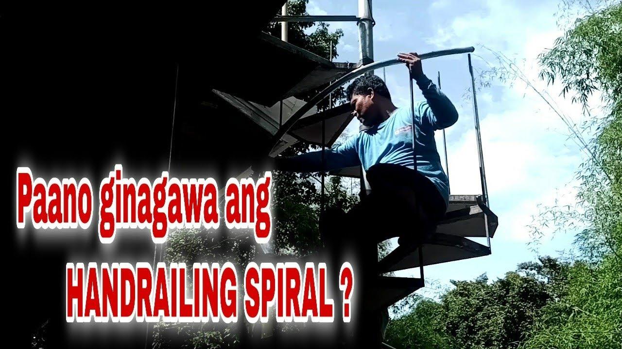 PART 4 SA PAGGAWA NANG HAND RAILING NAG SPIRAL