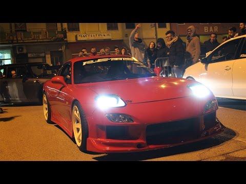 REVS LIMIT RX7, Skyline GTR, Lancer, M3...WRC Club Italia 19/03/2016 Castagnaro Motor Night