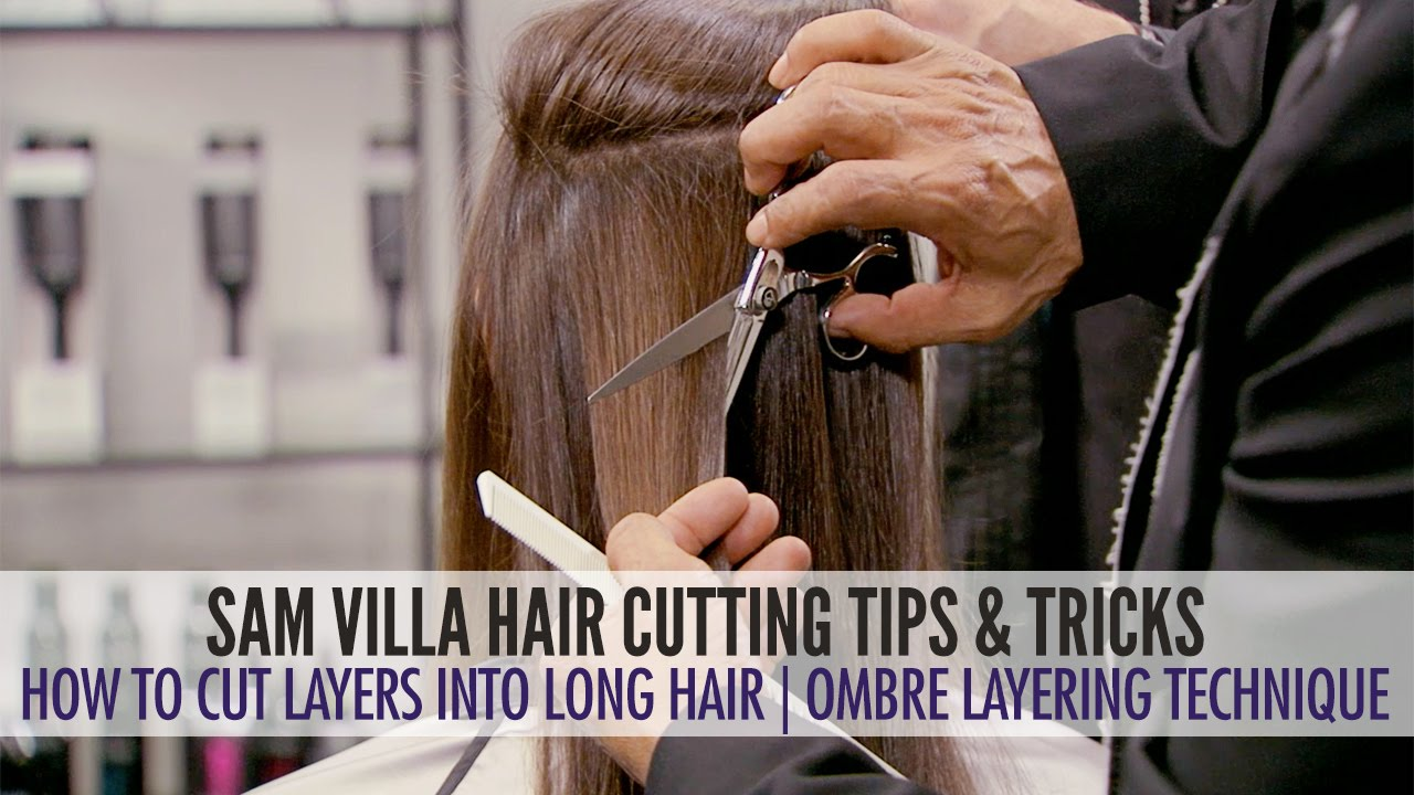 how to cut layers in long hair the ombre layering technique youtube