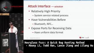 #HITB2019AMS D1T2 - Hourglass Fuzz: A Quick Bug Hunting Method - M. Li, T. Han, L. Jiang and L. Wu