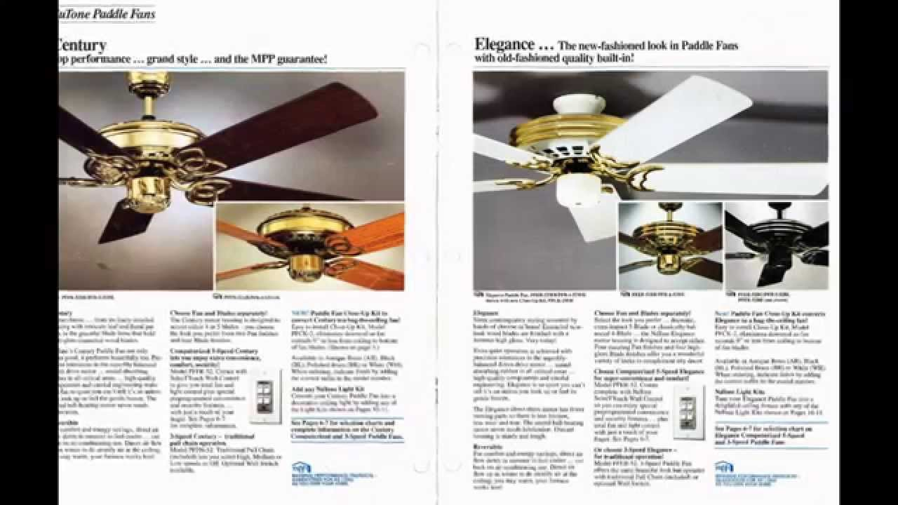 Nutone Ceiling Fan Catalog from 1992 - YouTube