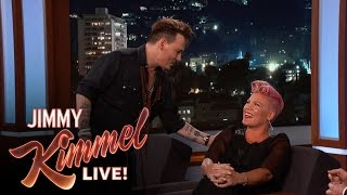 Download Johnny Depp Surprises P!nk Mp3 and Videos