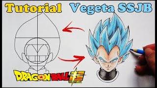Como Desenhar Vegeta SSJ Blue Dragon Ball Super - How to Draw Vegeta