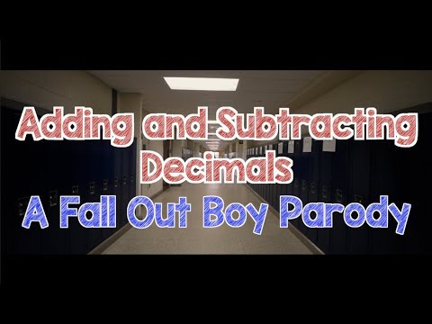 Adding and Subtracting Decimals Song  Fall Out Boy Parody