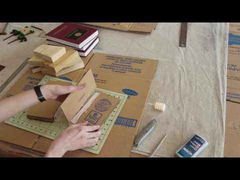 Cardboard Book Binding