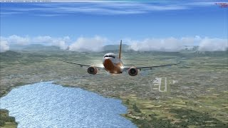 FSX Flight from LSGG to LFST (B737 NG and  Alsace by France VFR)