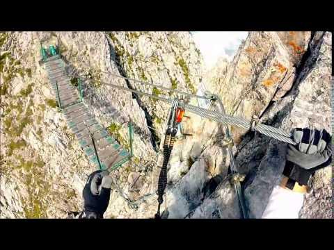 Klettersteig Innsbruck Nordkette : Klettersteig nordkette innsbruck youtube
