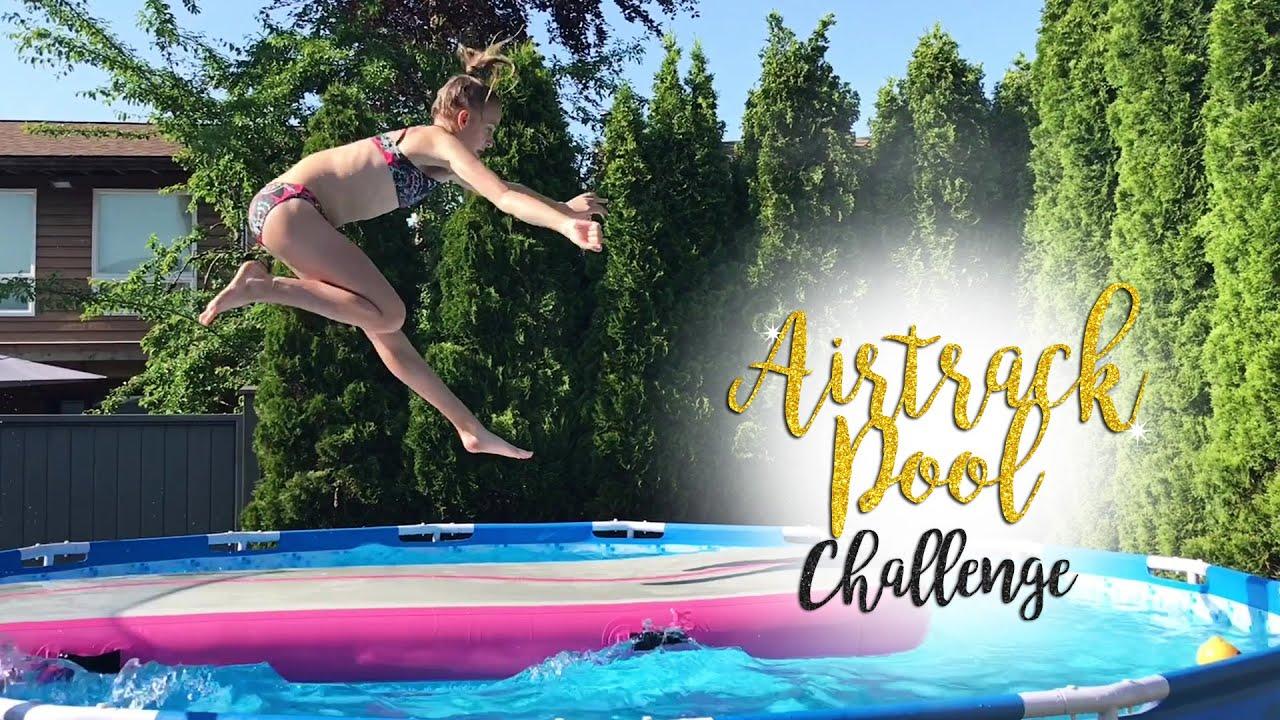 Gymnastics Airtrack Pool Challenge| Carissa SGG