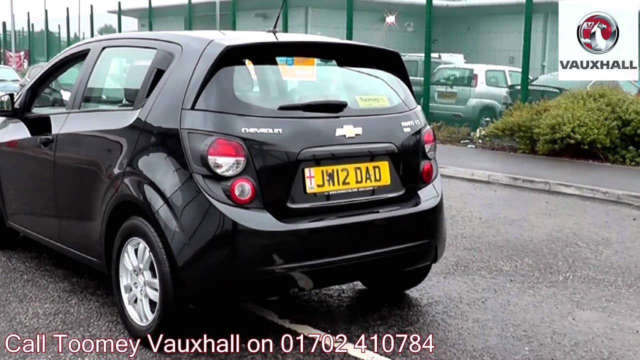 2012 chevrolet aveo lt eco black jw12dad for sale at toomey vauxhall southend youtube. Black Bedroom Furniture Sets. Home Design Ideas