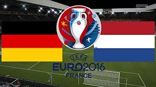 DEUTSCHLAND gegen NIEDERLANDE - EM 2016 FRANKREICH (Gruppenphase 3.Spieltag) ◄GER #11►