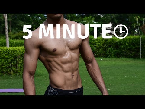 5 Minutes Six Pack Abs Workout At Home in Hindi